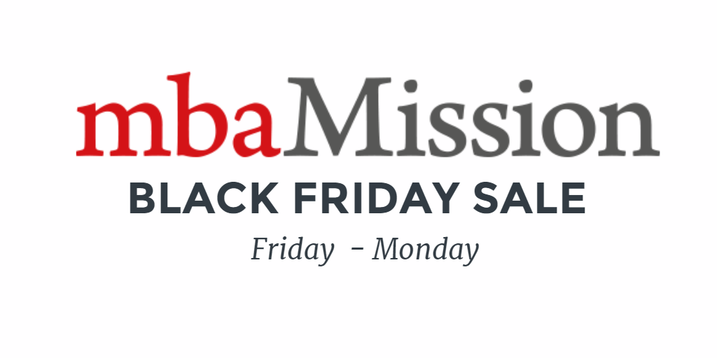 Black Friday Sale: Save 50% on mbaMission Insider's Guides Friday Through Monday! - mbaMission - MBA Admissions Consulting